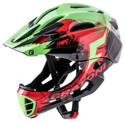Шлем Cratoni C-Maniac Pro Red-Black-Green Glossy M-L (54-58 cm)